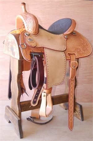 "Martin Saddlery ""Cervi Crown C"" Barrel Saddle (Tooled with Elephant Seat)"