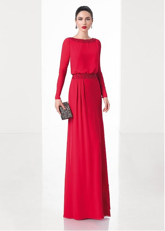 Buy discount Glamorous Chiffon Bateau Neckline Sheath Evening Dresses With Beaded Lace Appliques at Dressilyme.com