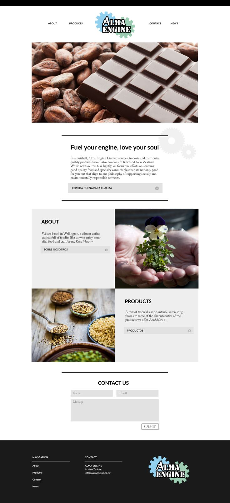 Alma Engine Web Design by CREATIVA Design Studio #websitedesign #websitelayout #graphicdesign #design