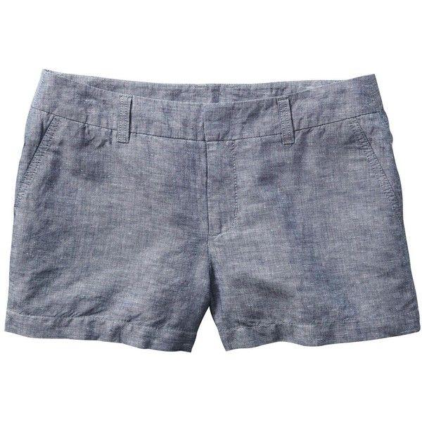 Gap Women Linen Cotton City Shorts ($20) ❤ liked on Polyvore featuring shorts, linen cotton shorts, cotton shorts, linen shorts, fitted shorts and gap shorts