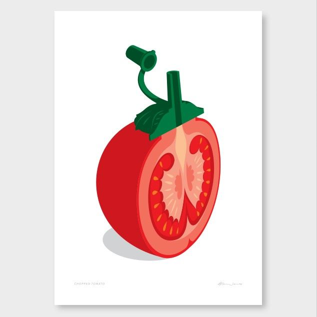 Chopped Tomato by Glenn Jones NZ Art Prints, Design Prints, Posters & NZ Design Gifts | endemicworld