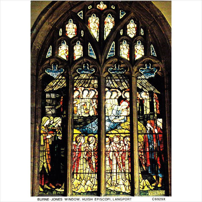 Colour PostCard - Burne-Jones Window Huish Episcopi Langport, Somerset