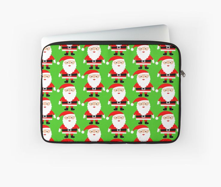 Cute Santa lap top sleeve. Do you love Christmas like i do? If so you will love this cute Santa laptop skin. This Cute Santa laptop sleeve is sure to get you in the Christmas spirit. Or why not give this Cute Santa laptop sleeve to somebody as a different gift?