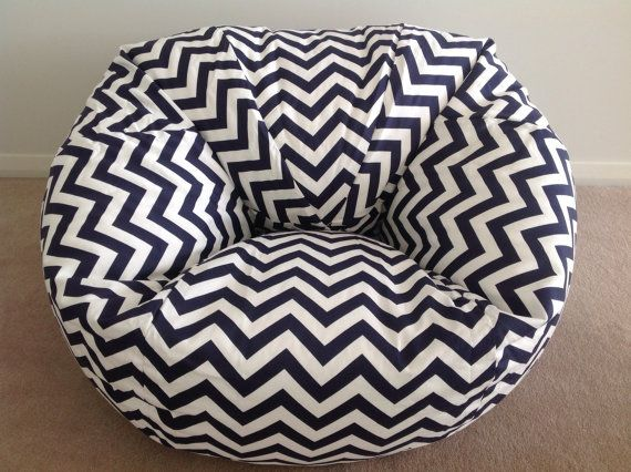 Bean Bag adults, teenagers, kids. Zig Zag Chevron Birthday Gift Boys, Girls Navy Blue, Yellow, Black, Pink, Red, Teal, Purple, Green, Orange