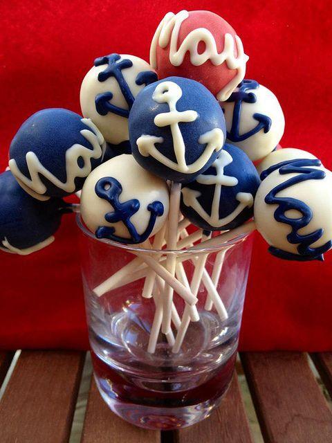 nautical cake pops | Nautical cake pops | Flickr - Photo Sharing!