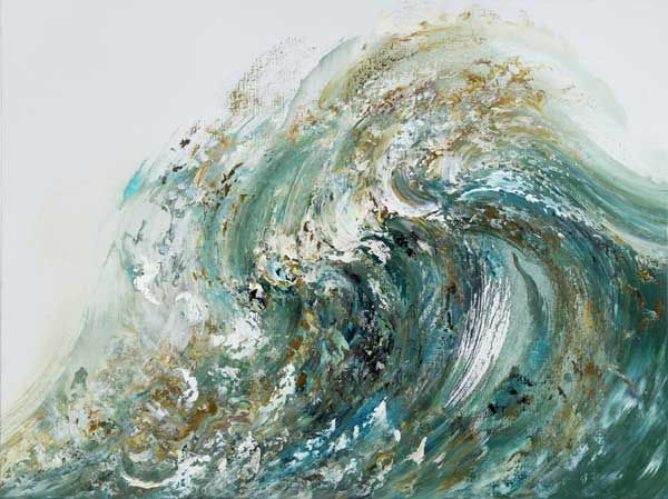 Summer Wave Tossing Sand by Maggi Hambling, oil on canvas, 2010