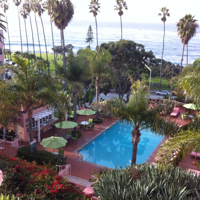 La Valencia Hotel, La Jolla, CA - This was the view from out honeymoon suite!