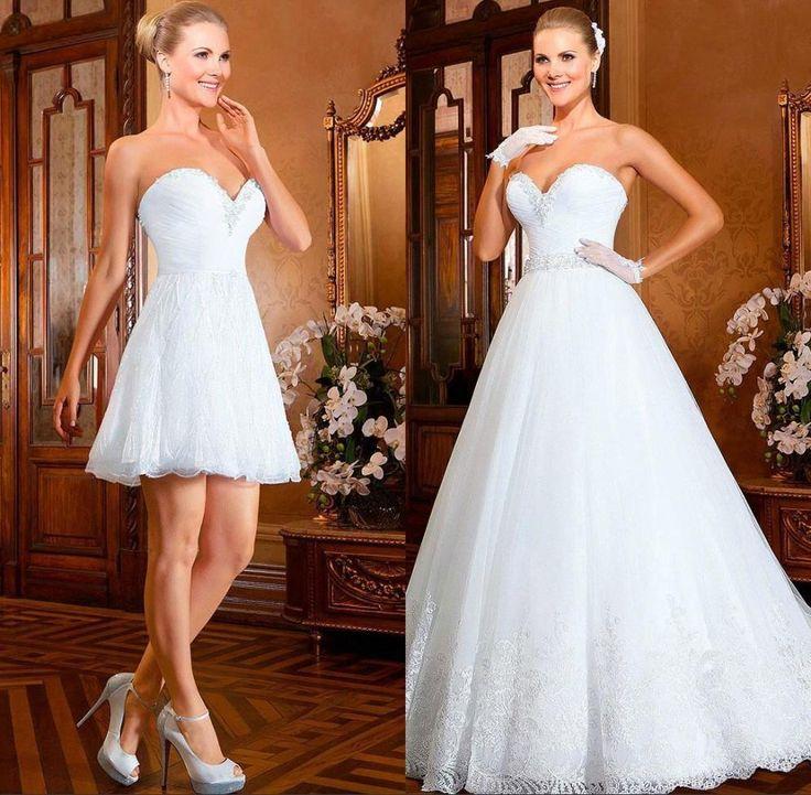 Two in one wedding dress wedding dress converrible skirt for Stella york convertible wedding dress