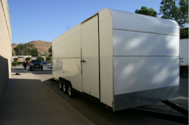 2008 Az-Tex Rear Ramp Door ATV Trailer , White for sale in Newhall, CA