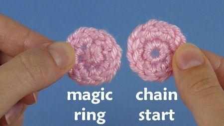 magic ring for crochet video tutorial, by planetjune
