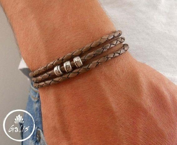 Armreife - Herren-Armband - Herren-Lederarmband - ein Designerstück von galisjd bei DaWanda