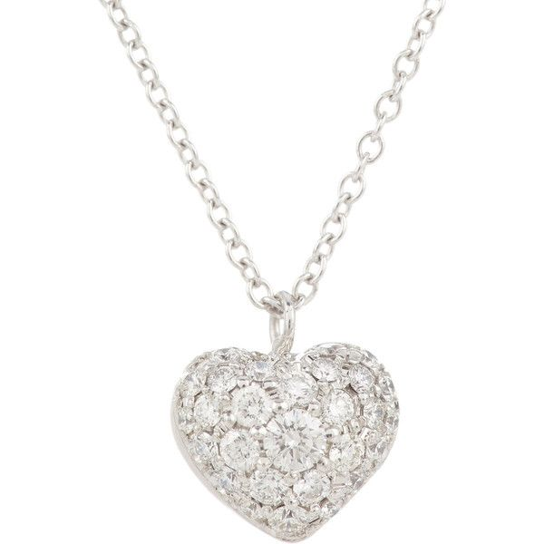 Finn Pave Diamond Puffed Heart Pendant Necklace and other apparel, accessories and trends. Browse and shop 20 related looks.