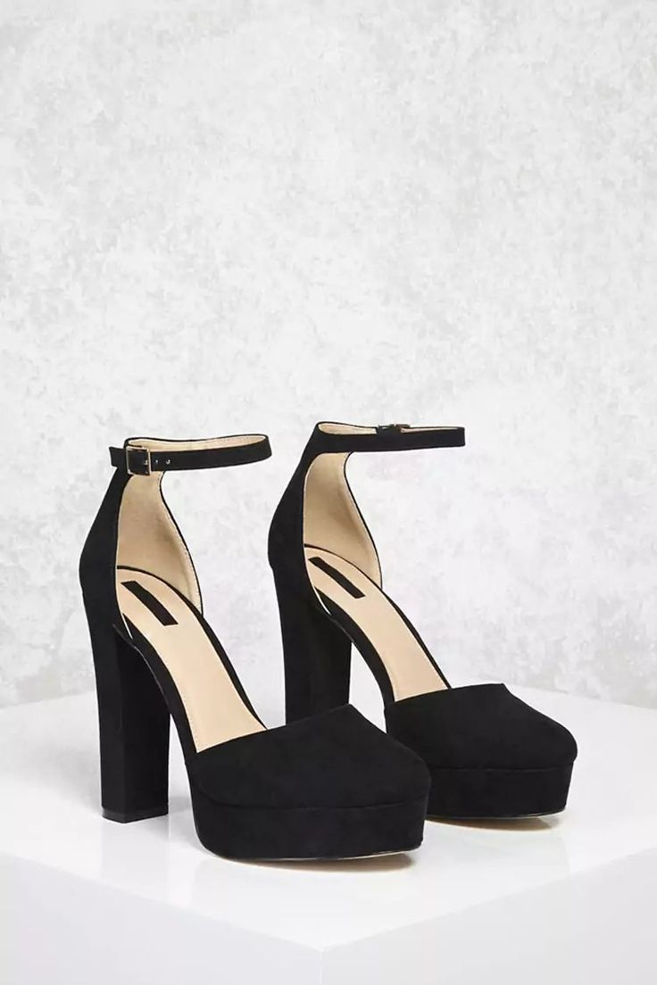 Product Name:Faux Suede Platform Heels, Category:Shoes, Price:32.9