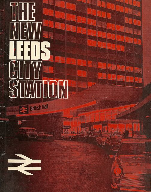 British Rail - The New Leeds station - brochure, 1967 by mikeyashworth, via Flickr