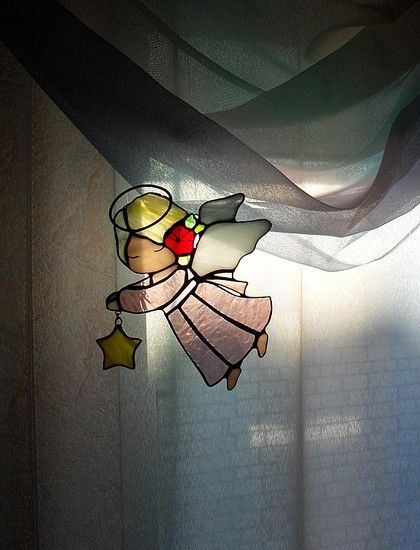girl angel with star