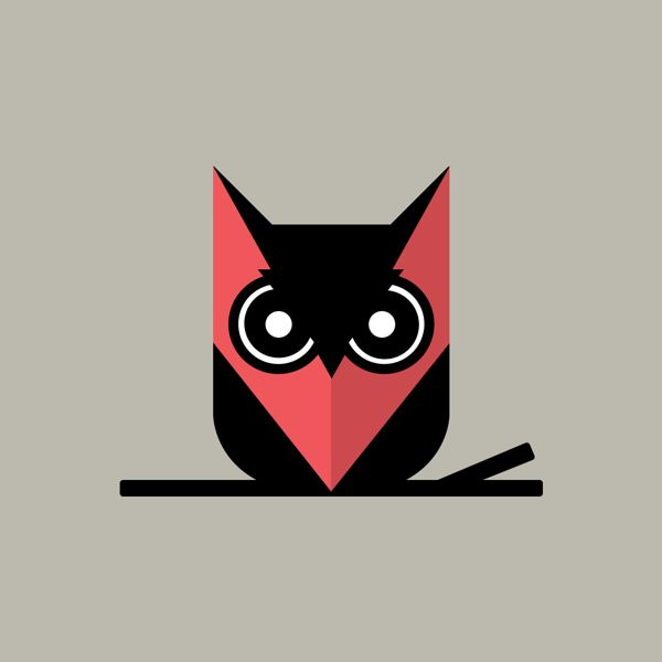 Owl logo for the translator's company.