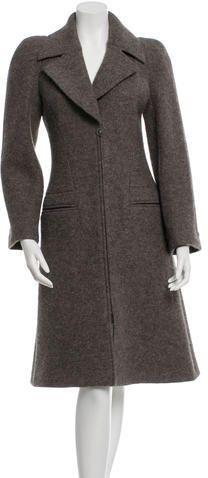 Chanel Long Line Wool Coat