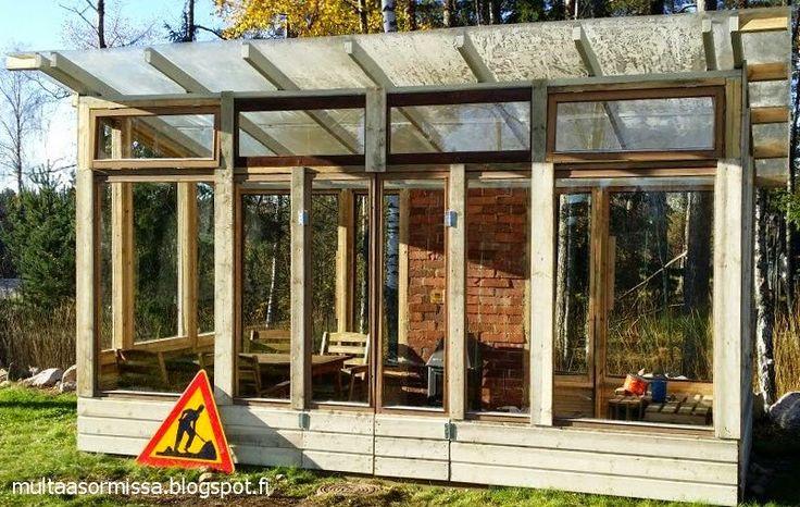Kasvihuoneeni. My greenhouse. Mitt växthus.