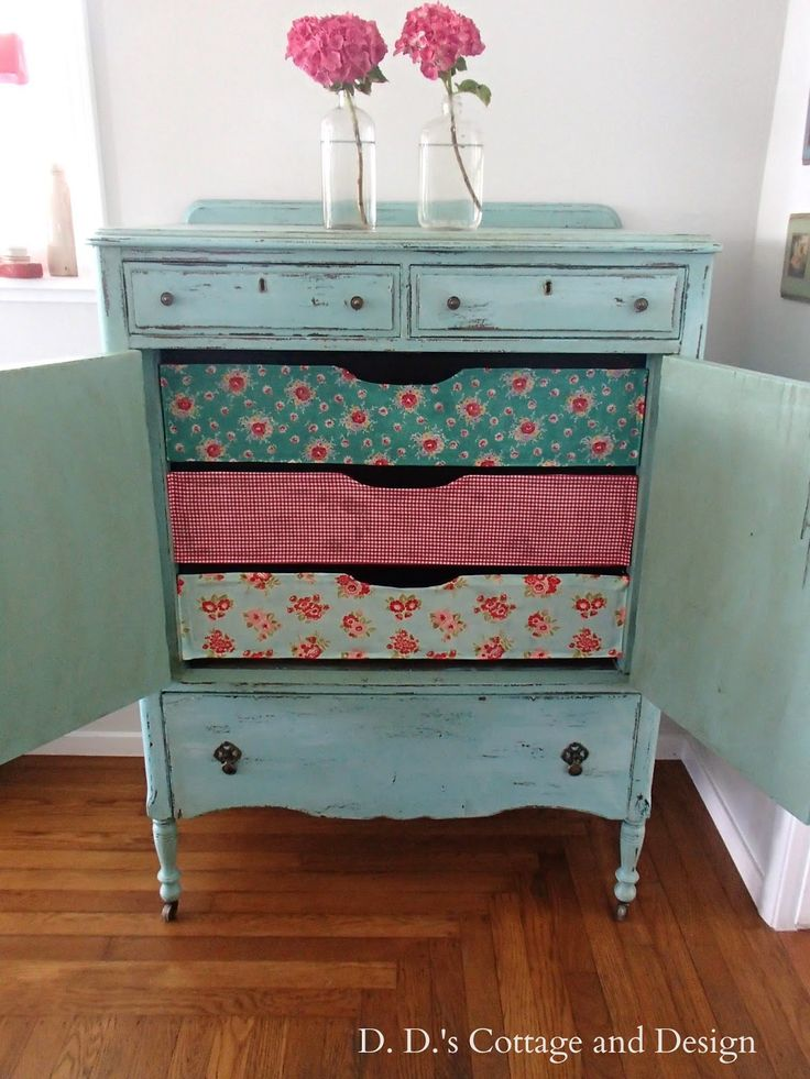 D.D.'s Cottage and Design: Chest of drawers-inspired by Cath Kidson