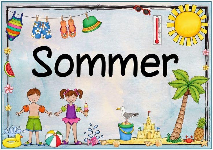 Plakat zum Sommer   Nachdem mehrfach nach einem Jahreszeitenplakat  zum Sommer gefragt wurde, habe ich nun eines erstellt. Auch wenn es bei...