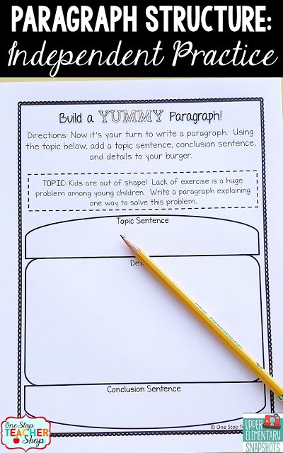 writing a narrative paragraph in elementary