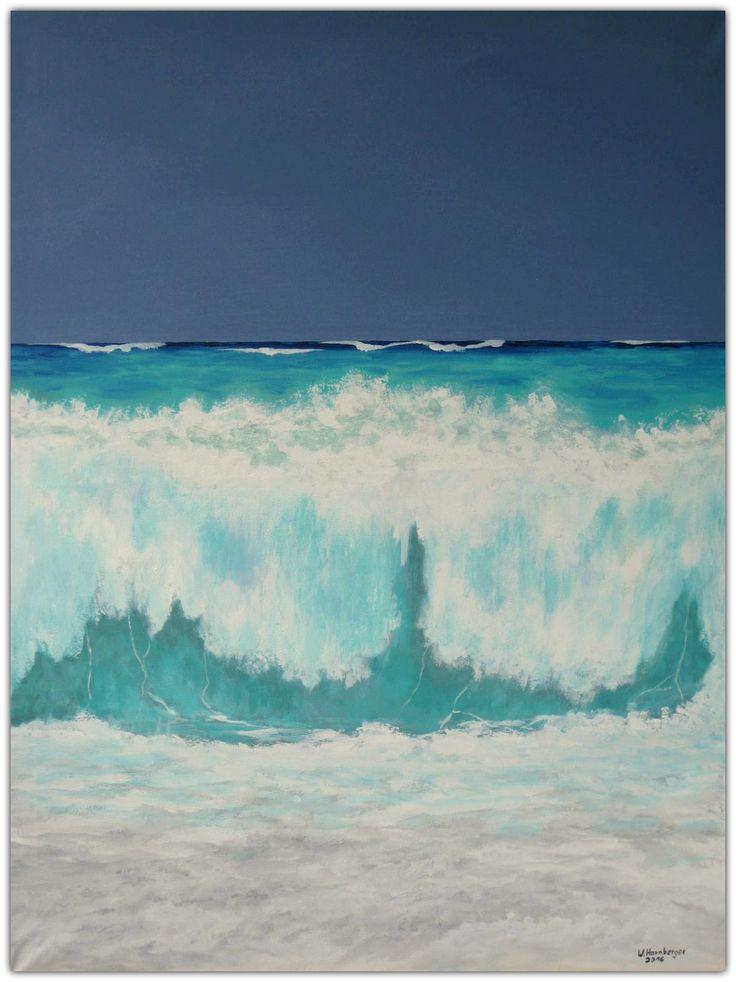 Acryl/Leinwand  60 cm x 80 cm x 1,5 cm  Preis auf Anfrage  Big Wave