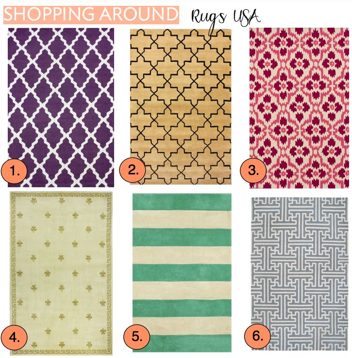 Delightful Rugs USA    Relatively Cheap Rug Website With Lots Of Cute Styles. Website  Link