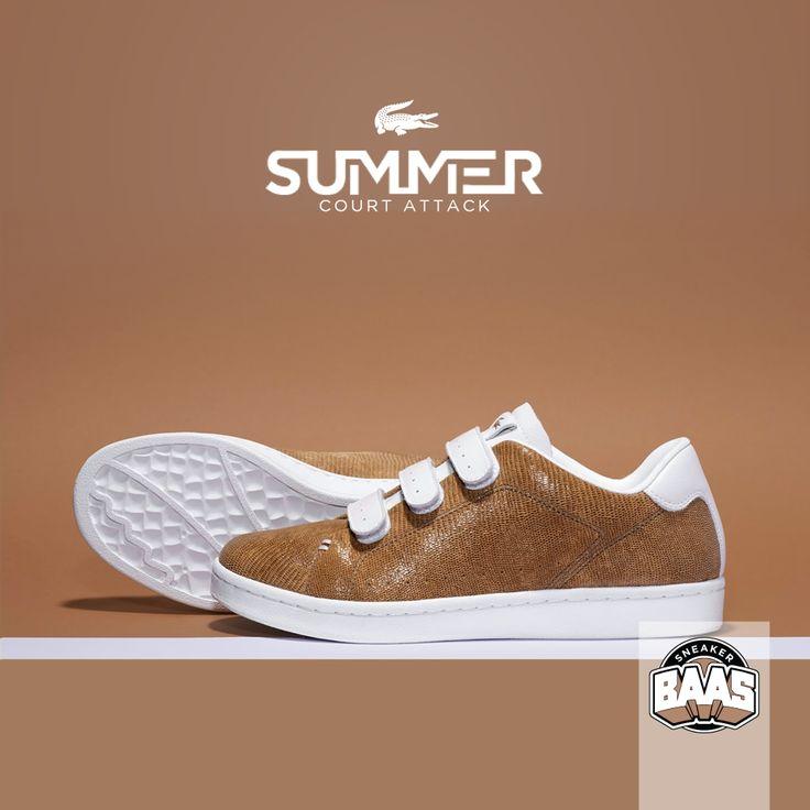 "Lacoste Camden New Cup Snake ""White & Brown"" | Now online! | http://www.sneakerbaas.nl/sneakers/lacoste-camden-new-cup-snake-white-brown.html | #BAASBOVENBAAS #LACOSTE #FRESH #SUMMER |"