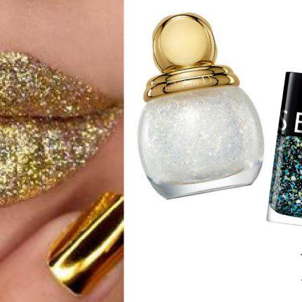 Colori smalti di tendenza per Natale e Capodanno #smalti #nails #gold #glitter #beauty