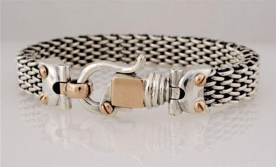 Unisex Bracelet Braided braceletSterling Silver with by cremerdani, $1420.00