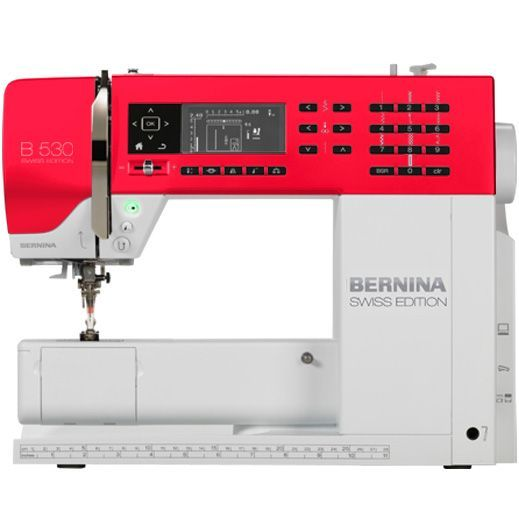 The BERNINA 530 Swiss Edition will wow you with its wide range of functions and features – particularly its BSR functionality – as well as its wealth of pre-programmed stitches. The BERNINA Stitch Regulator (BSR foot) can be added as an accessory at any time [Promotional Pin] [Promotional Pin]