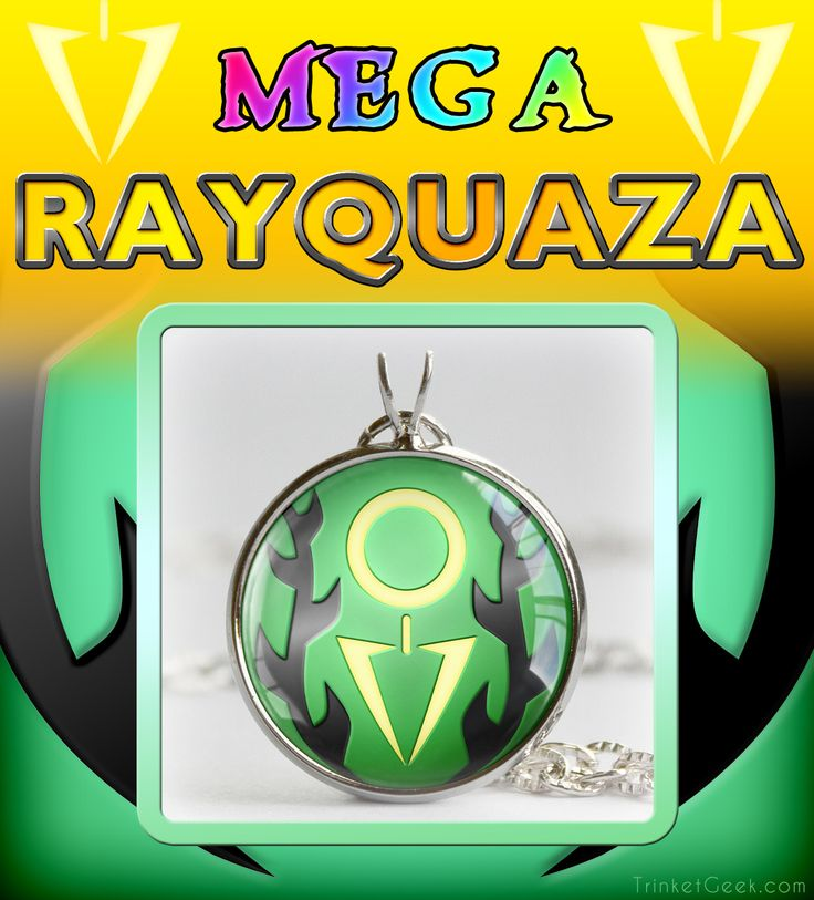 """A pendant for the mighty mega evolution of the ancient pokemon Rayquaza from the new pokemon remakes of Sapphire and Ruby; """"Pokemon ORAS"""" #pokemon #gaming #TrinketGeek"""