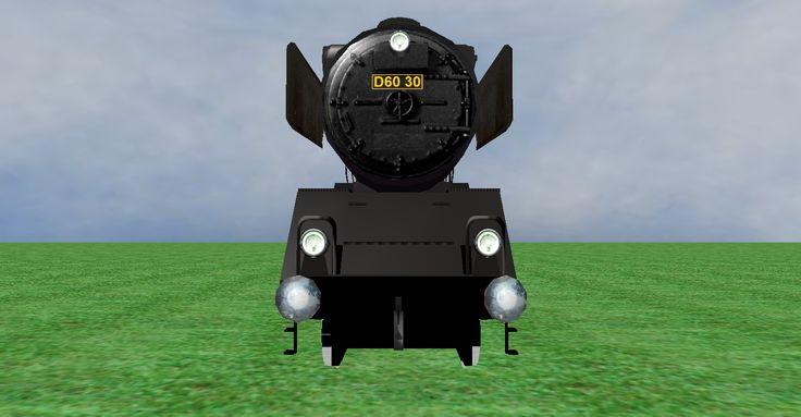 JNR D60 steam loco frontview