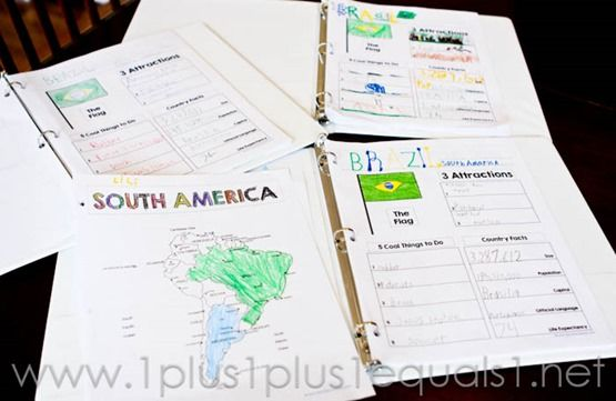 A Simple World Geography Plan ~ with Notebooking and Map Printables - 1+1+1=1
