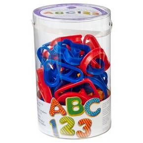 <p>This 50-piece plastic cookie cutter set is great for kids. Teach numbers and letters with the A-B-C and 1-2-3 Cutter Set. Plastic cutters are safe for kids. Complete alphabet and numeral collection, great for cookies, brownies, gelatin treats, learning games, crafts and more. Average cutter size approx. 3 1/2 x 3 1/2 in. Recipe included.</p><p></p><p>• Includes...