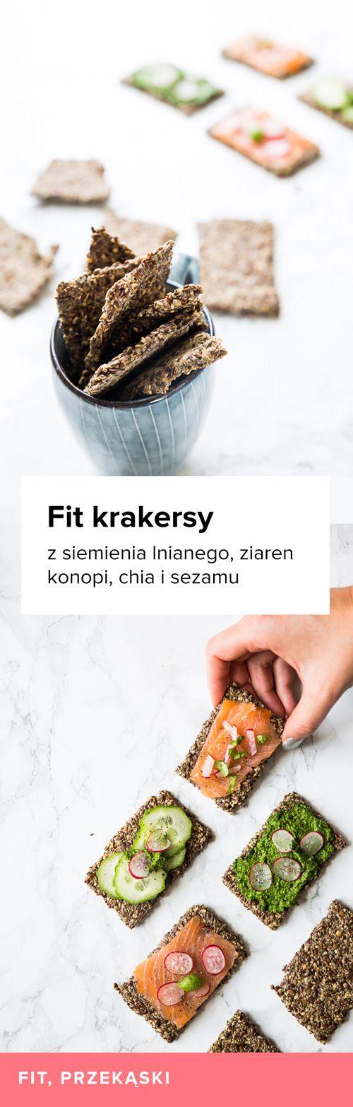 Zdrowekrakersy z siemienia lnianego,nasion konopi, chia i sezamu. Bardzo proste w przygotowaniu, zdrowe krakersy z ziaren - siemienia lnianego, konopi, chia i sezamu.