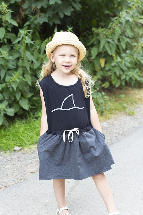SHARK IN THE PARK little black and grey dress