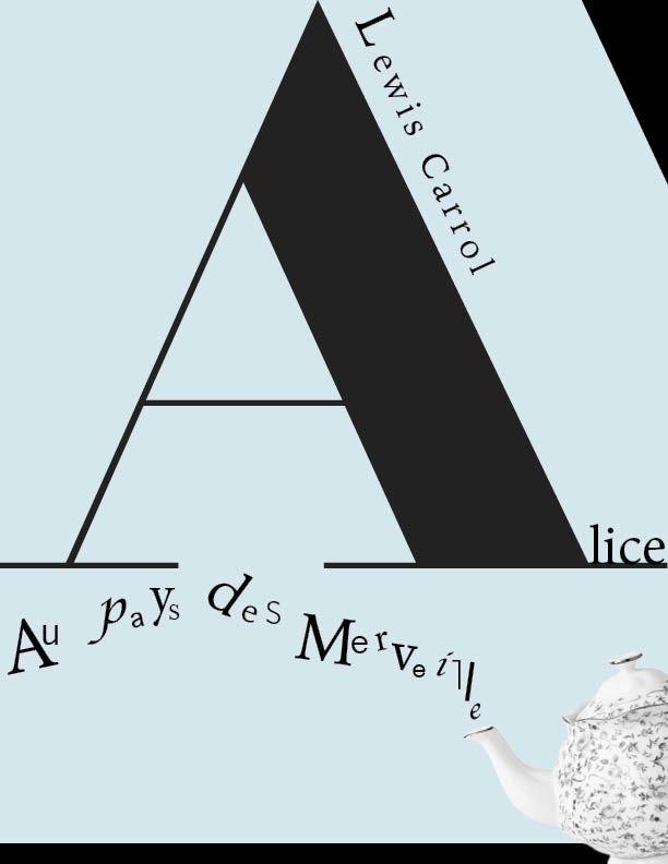 Simulation de couverture du livre « Alice aux pays des merveilles» .