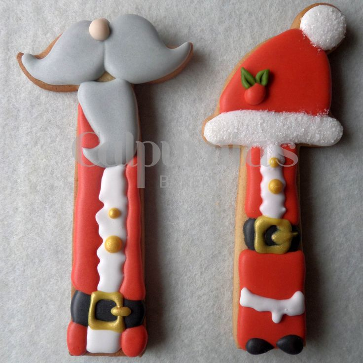 Galletas decoradas de Papa Noel. Ikea cookie cutters