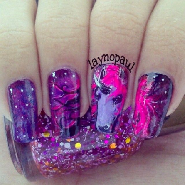 despicable me unicorn nails - photo #20