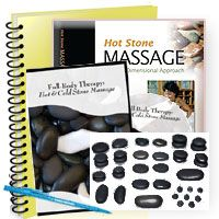 Hot Stone Massage - 15 CE Hours. Hot Stone Massage textbook by Leslie Bruder, DVD Full Body Therapy: Hot & Cold Stone Massage by TIR Stone Massage, Guide with instructions, exam, course evaluation, certificate of achievement upon completion, and unlimited phone support. Set of 19 Basalt Stones Includes: 4-Medium Working Stones. 4-Facial Stones, 8-Toe Stones, 1-Contour Stone, 2-Trigger Point Stones  All courses are accepted by the NCBTMB, AMTA, and ABMP. Shipping flat rate of $8.00…