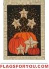 Starburst Pumpkins Garden Flag