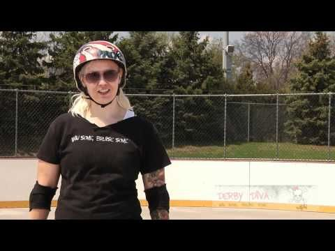 How to Play Roller Derby: Hockey Stops - YouTube