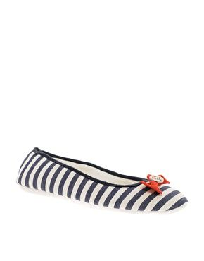 Pauls Boutique Stripe Ballet Slipper