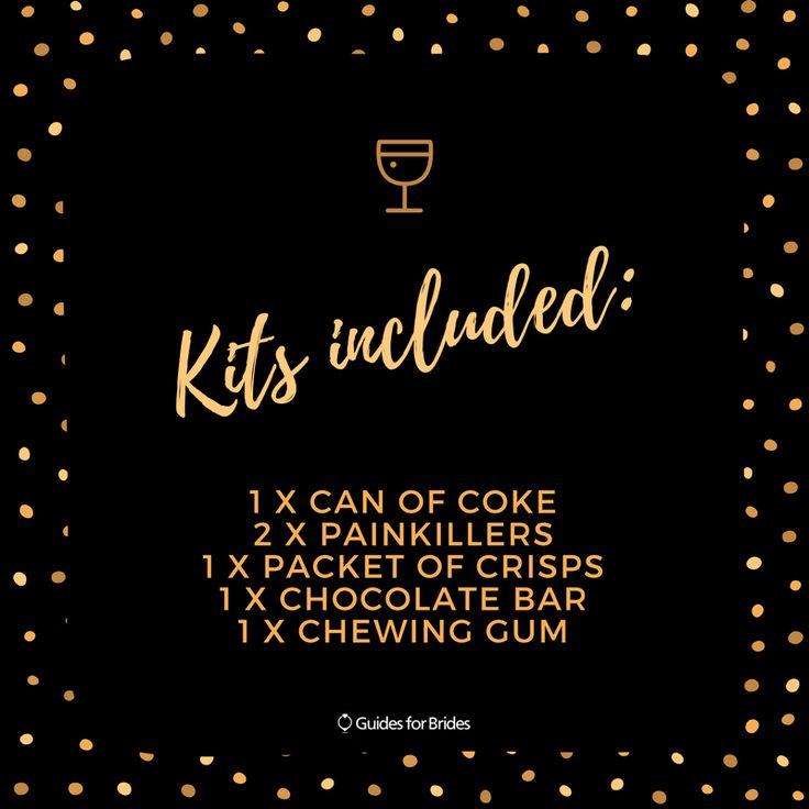 hangover kits wedding