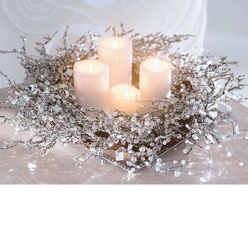 Silver decorations home decor candles design holidays interior christmas