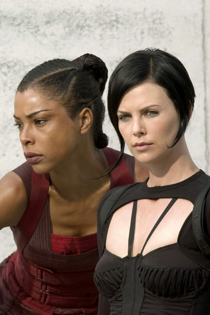 Sophie Okonedo and Charlize Theron in Paramount Pictures' action/adventure Aeon Flux - 2005
