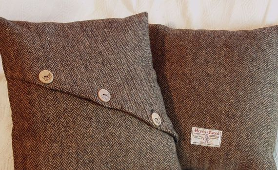 Decorative pillow - British Harris Tweed cushion or pillow cover hand-made in Britain on Etsy, $43.03