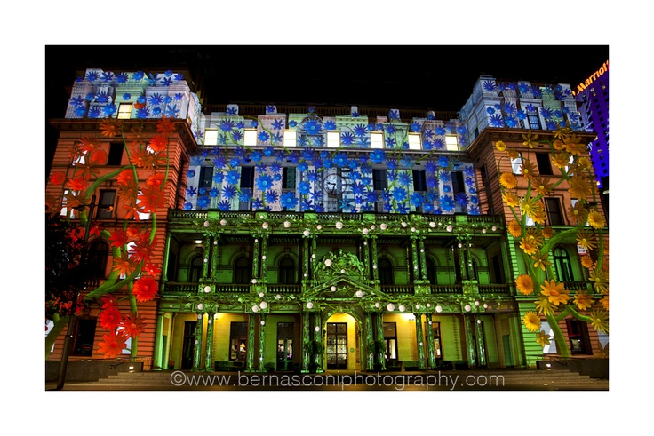 #Vivid #Sydney has again taken over our city. This annual festival is in it's 4th year and transforms Sydney into a spectacular canvas of light, music and ideas. Some of Sydney's iconic buildings are lit up magically with some VERY sophisticated 3D light shows.    This photo was taken last night in front of Customs House – a beautiful sandstone building that is a real favourite of mine.  by Christine Bernasconi bernasconiphotography.com