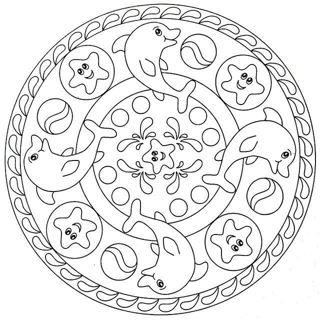 ocean mandalas coloring pages - photo #31